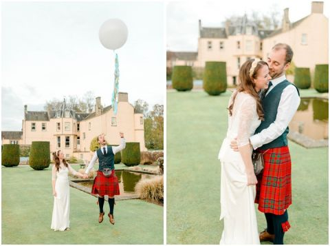 Outdoor Wedding Myres Castle Scotland Wedding 145(pp w480 h357)