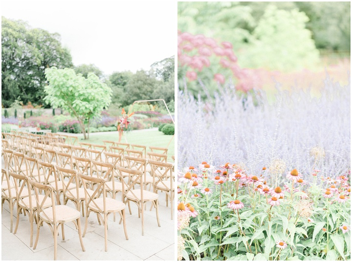 outdoor ceremony at fig house