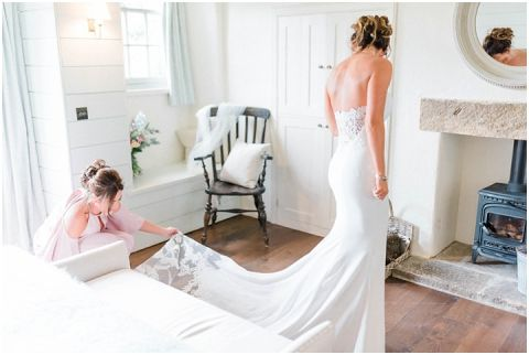 Fig House Wedding sequin wedding dress Middleton Bright North Yorkshire Wedding Photographer 023(pp w480 h322)