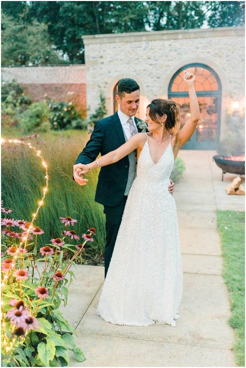 Fig House Wedding sequin wedding dress Middleton Bright North Yorkshire Wedding Photographer 169(pp w480 h716)